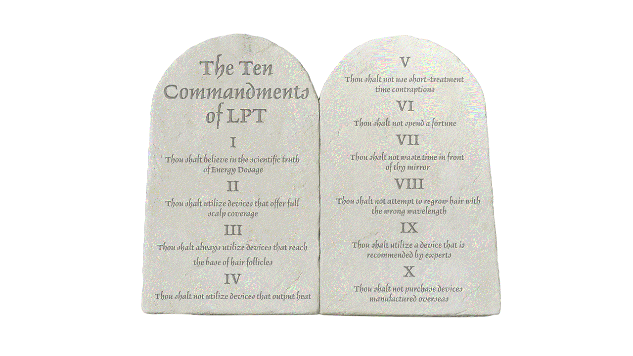 Theradome 10 commandments of LPT